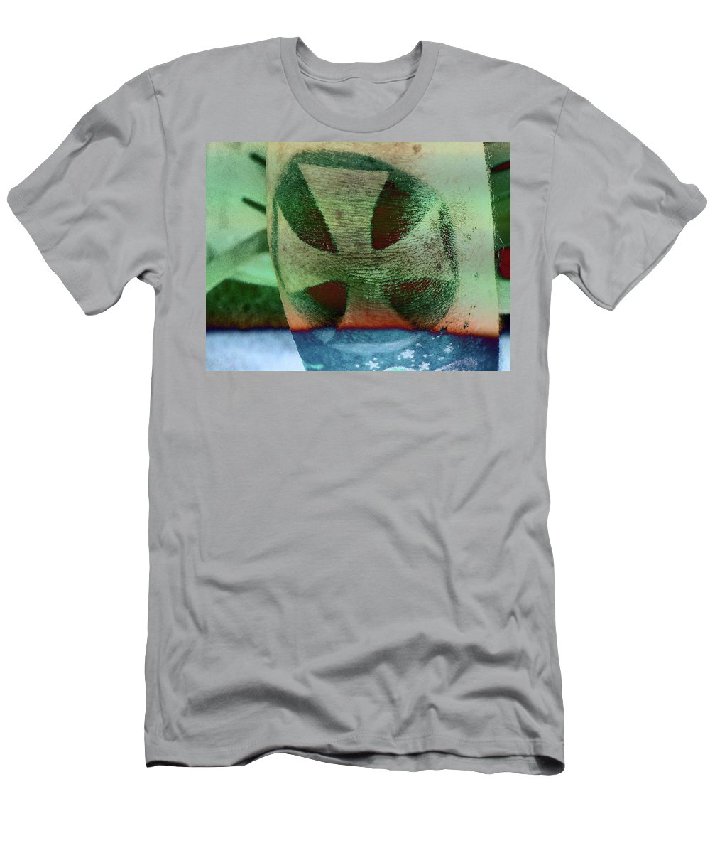 Abstract Men's T-Shirt (Athletic Fit) featuring the photograph Never My Cross by Lenore Senior