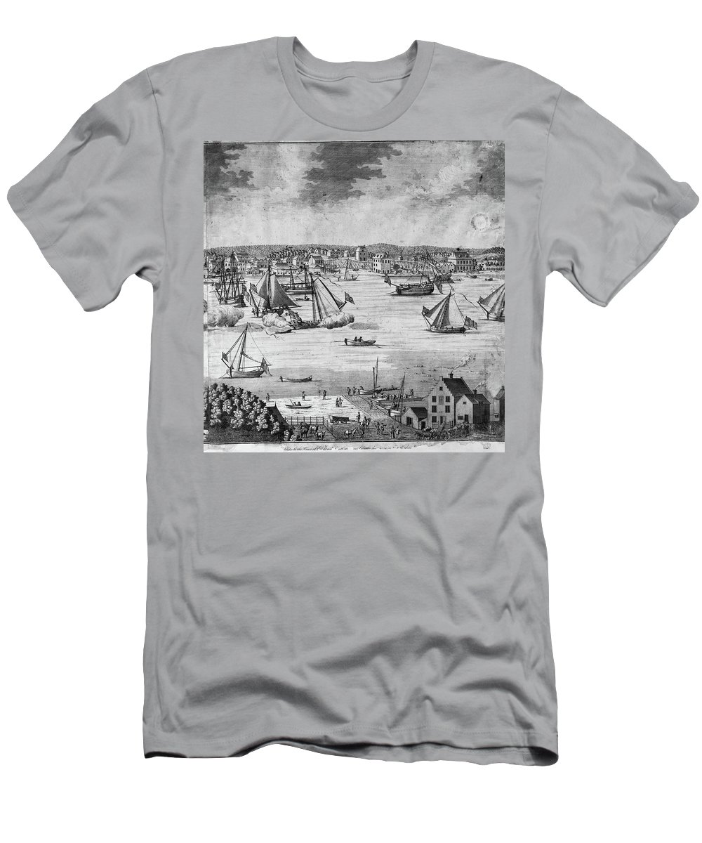 1717 Men's T-Shirt (Athletic Fit) featuring the painting New York City, 1717 by Granger