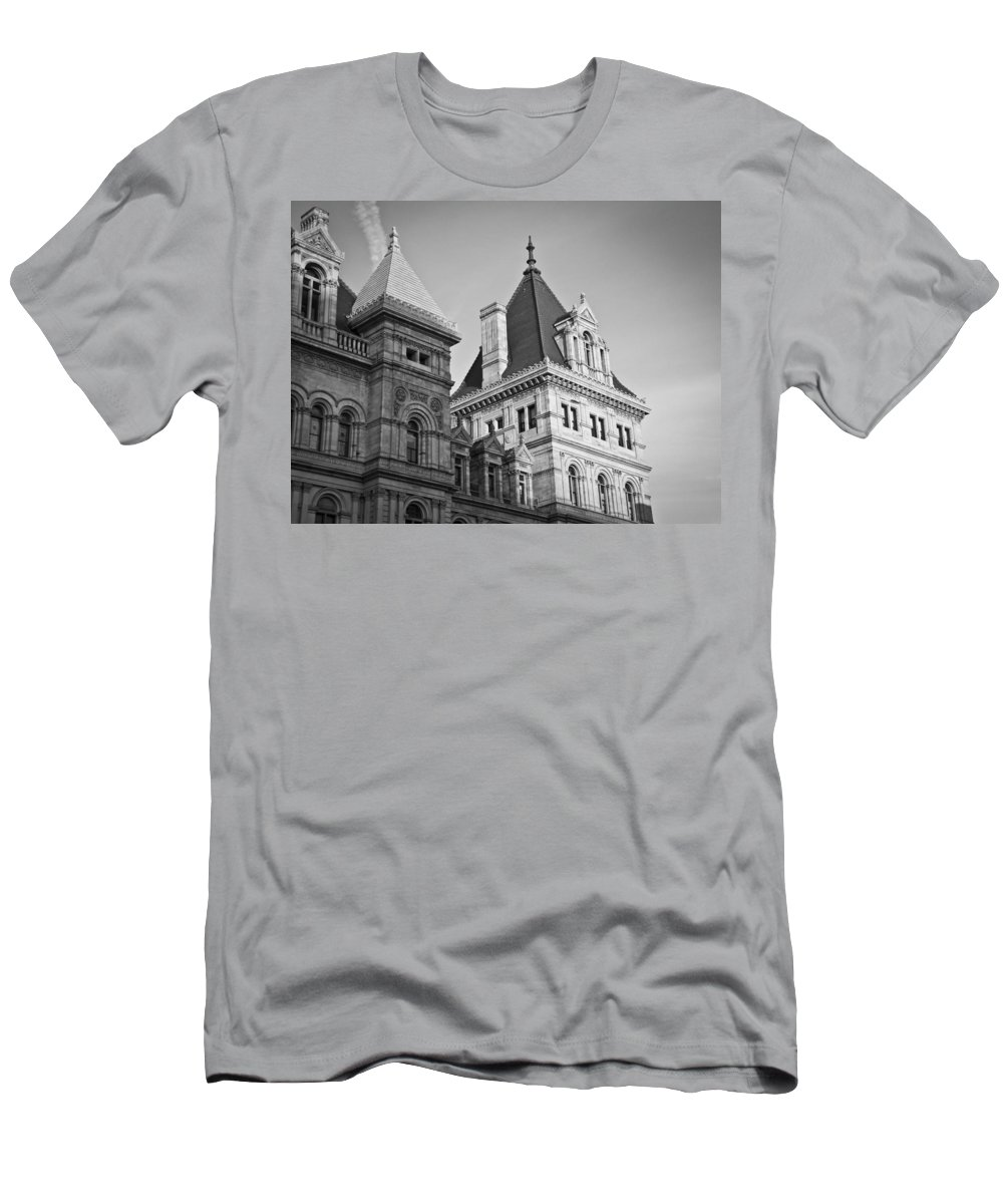 New Men's T-Shirt (Athletic Fit) featuring the photograph New York State Capitol Building by Jiayin Ma