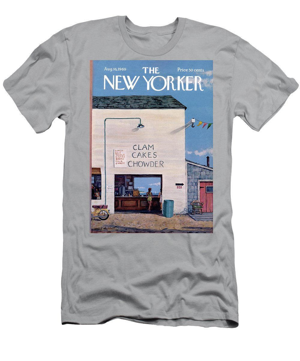 Sea T-Shirt featuring the painting New Yorker August 16th, 1969 by Albert Hubbell