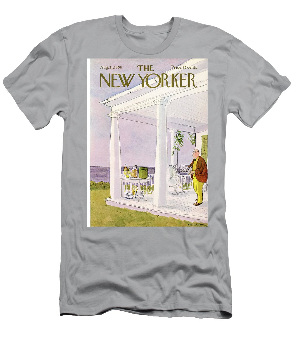 James Stevenson Jst T-Shirt featuring the painting New Yorker August 31st, 1968 by James Stevenson