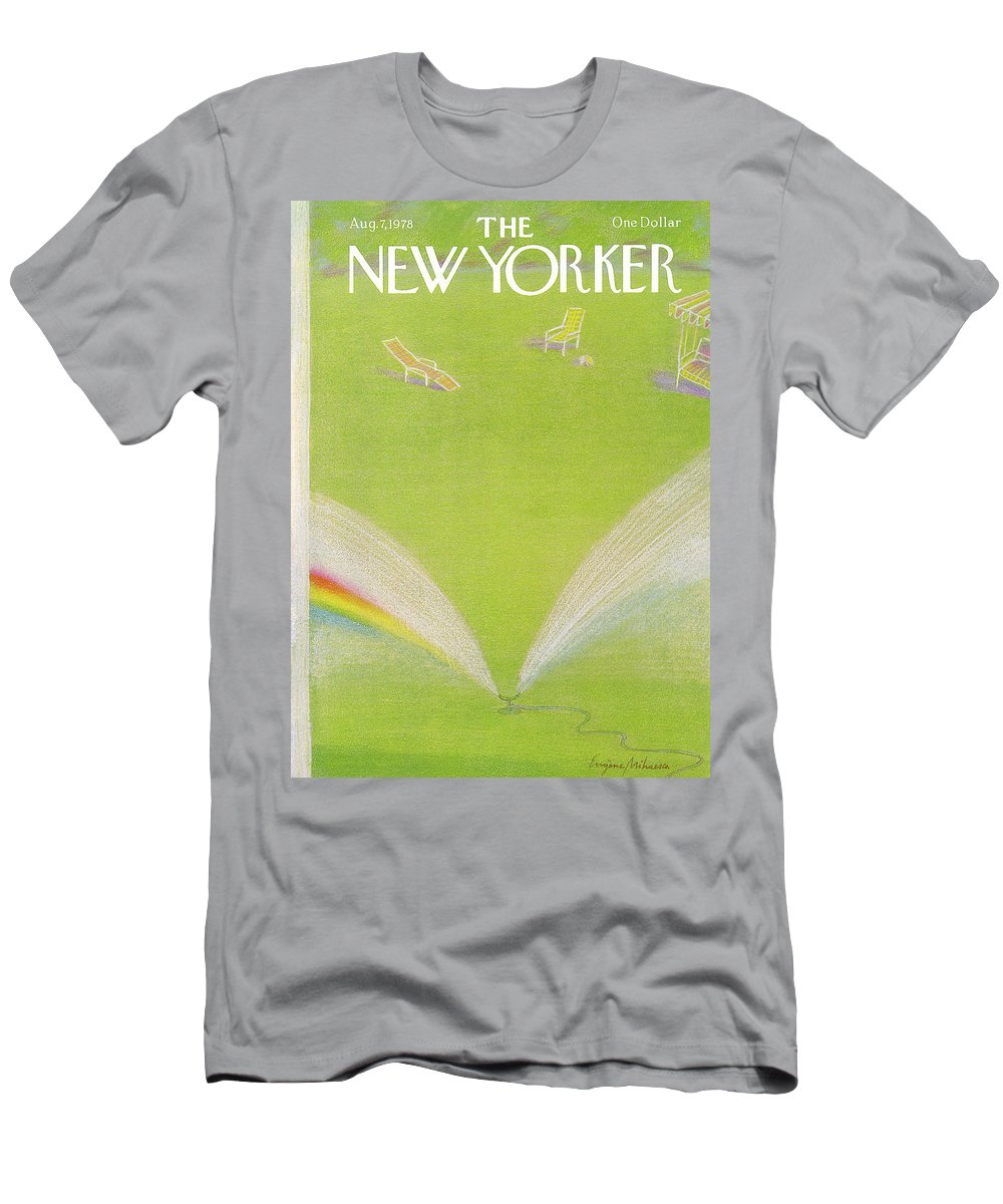 Eugene Mihaesco Emi T-Shirt featuring the painting New Yorker August 7th, 1978 by Eugene Mihaesco