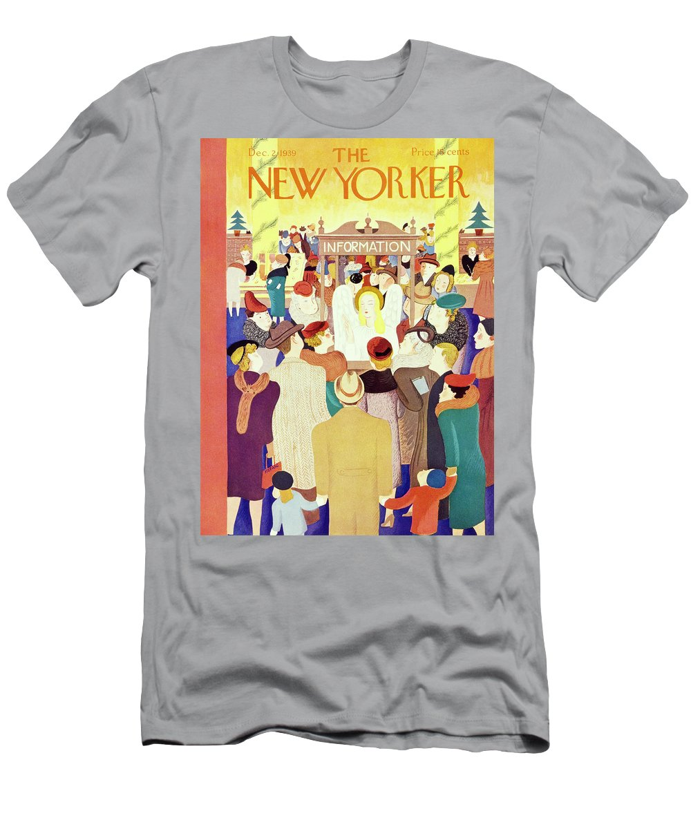 Holiday T-Shirt featuring the painting New Yorker December 2 1939 by Ilonka Karasz