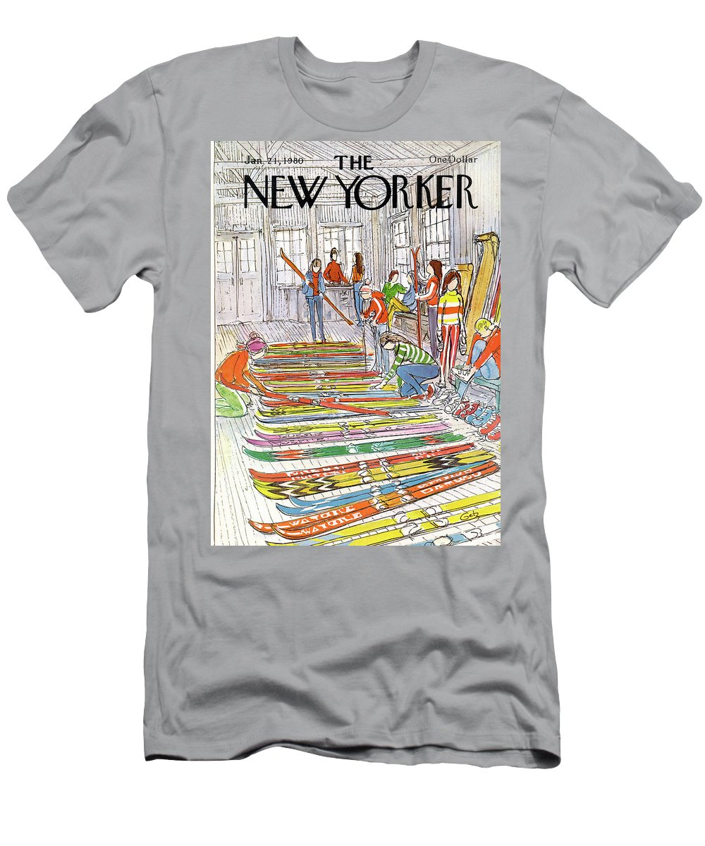 Sports T-Shirt featuring the painting New Yorker January 21st, 1980 by Arthur Getz