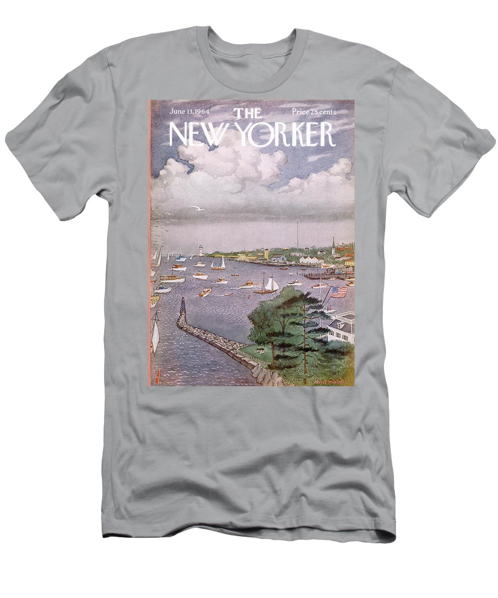 Albert Hubbell Ahu T-Shirt featuring the painting New Yorker June 13th, 1964 by Albert Hubbell