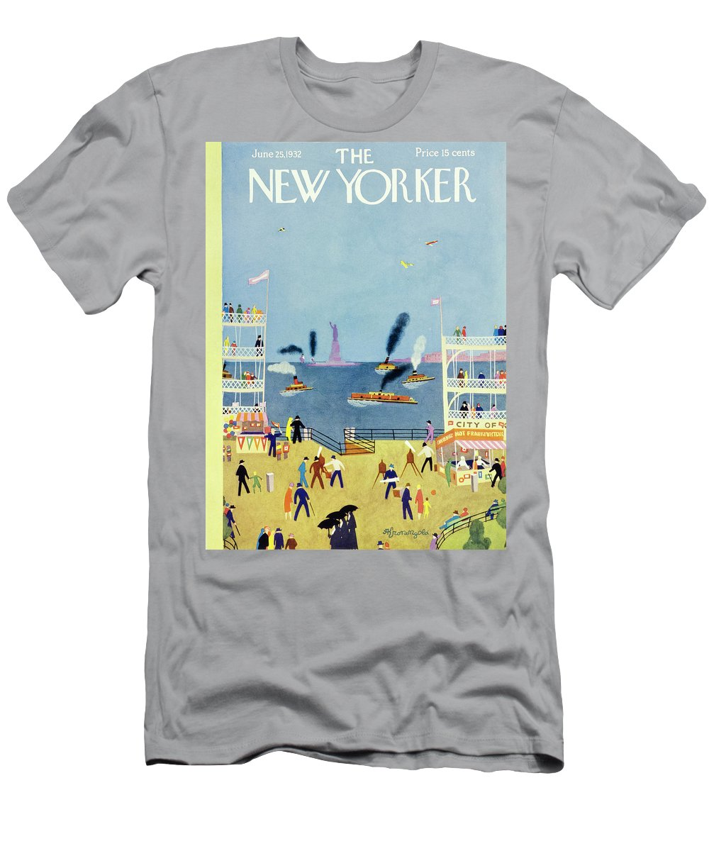 Illustration T-Shirt featuring the painting New Yorker June 25 1932 by Arthur K Kronengold