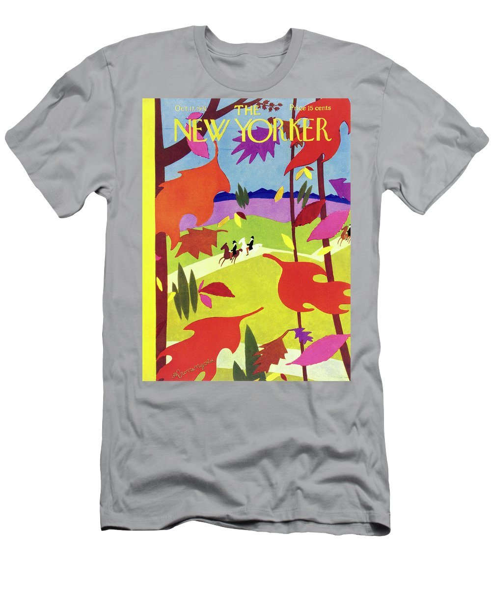 Illustration T-Shirt featuring the painting New Yorker October 17 1931 by Arthur K Kronengold