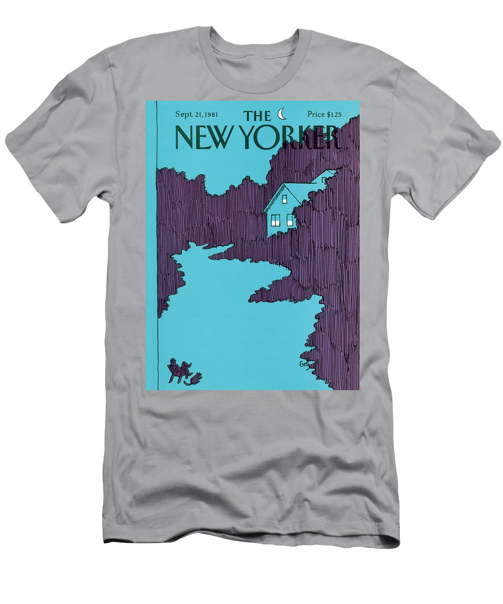 House T-Shirt featuring the painting New Yorker September 21st, 1981 by Arthur Getz