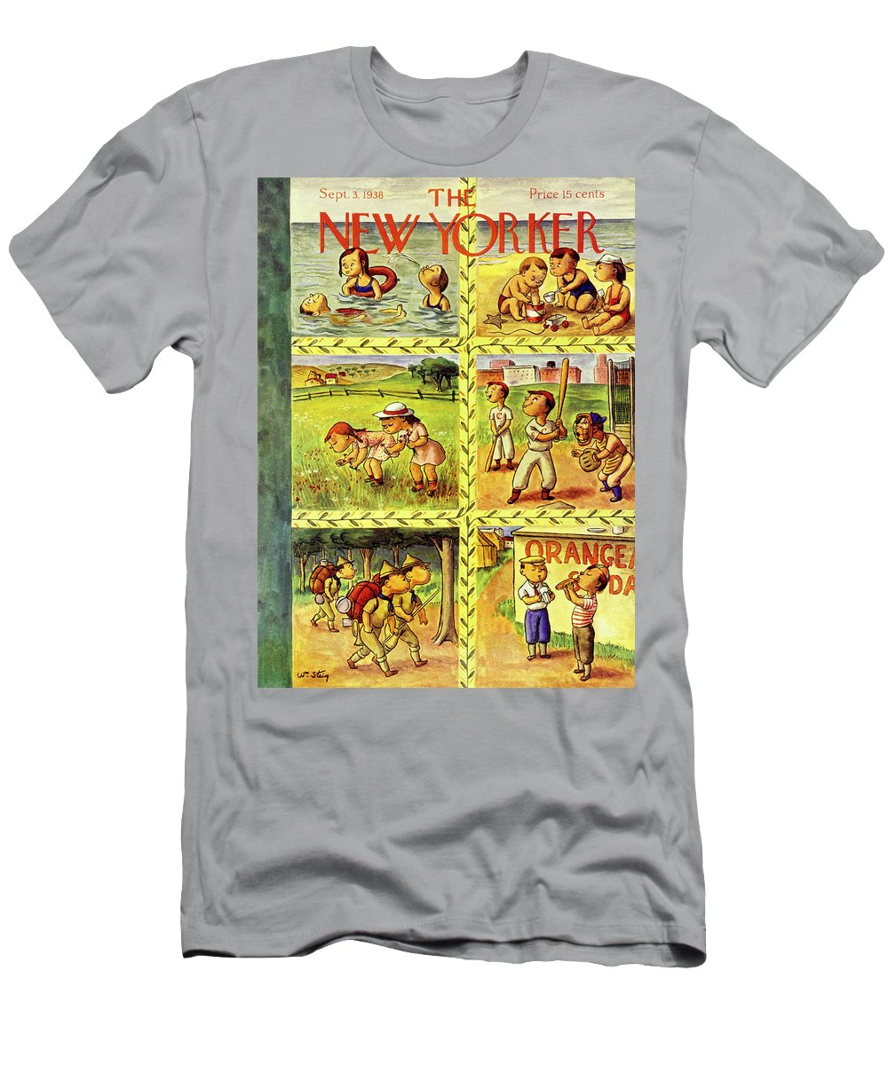 Children T-Shirt featuring the painting New Yorker September 3 1938 by William Steig