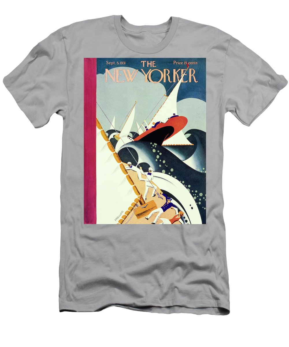 Illustration T-Shirt featuring the painting New Yorker September 5 1931 by Theodore G Haupt