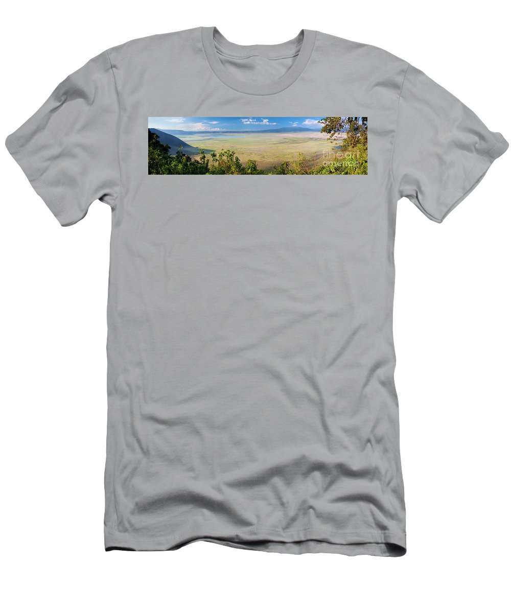 Africa Men's T-Shirt (Athletic Fit) featuring the photograph Ngorongoro Crater In Tanzania Africa by Michal Bednarek
