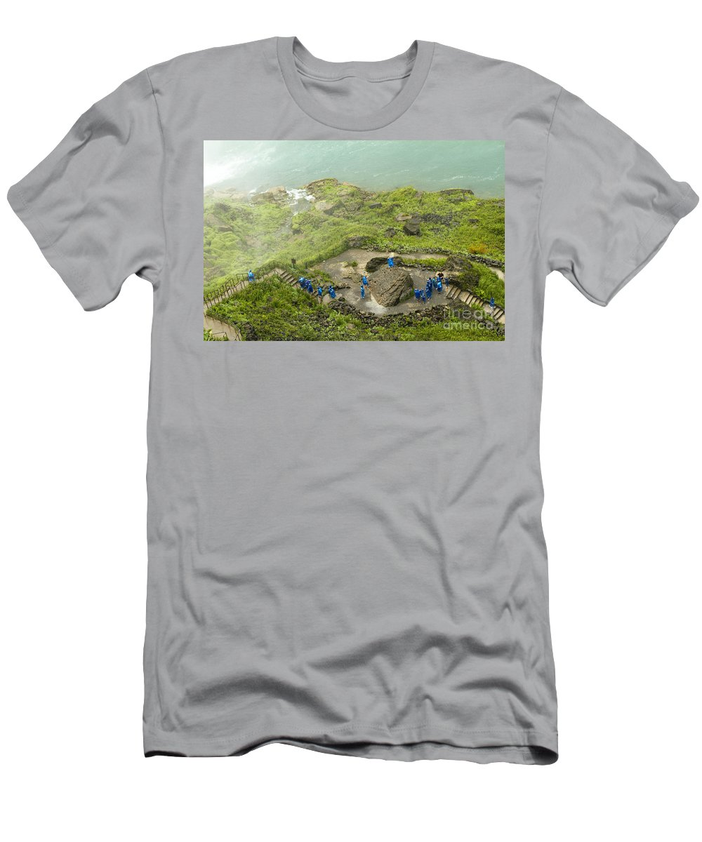 Men's T-Shirt (Athletic Fit) featuring the photograph Niagara Falls Four by Sara Schroeder