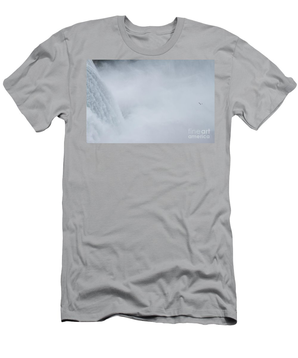 Men's T-Shirt (Athletic Fit) featuring the photograph Niagara Falls Two by Sara Schroeder