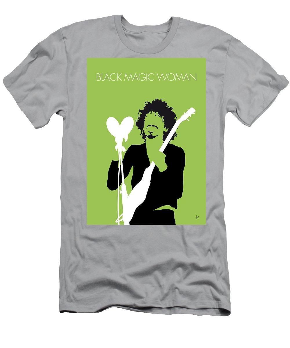 Santana Men's T-Shirt (Athletic Fit) featuring the digital art No046 My Santana Minimal Music Poster by Chungkong Art