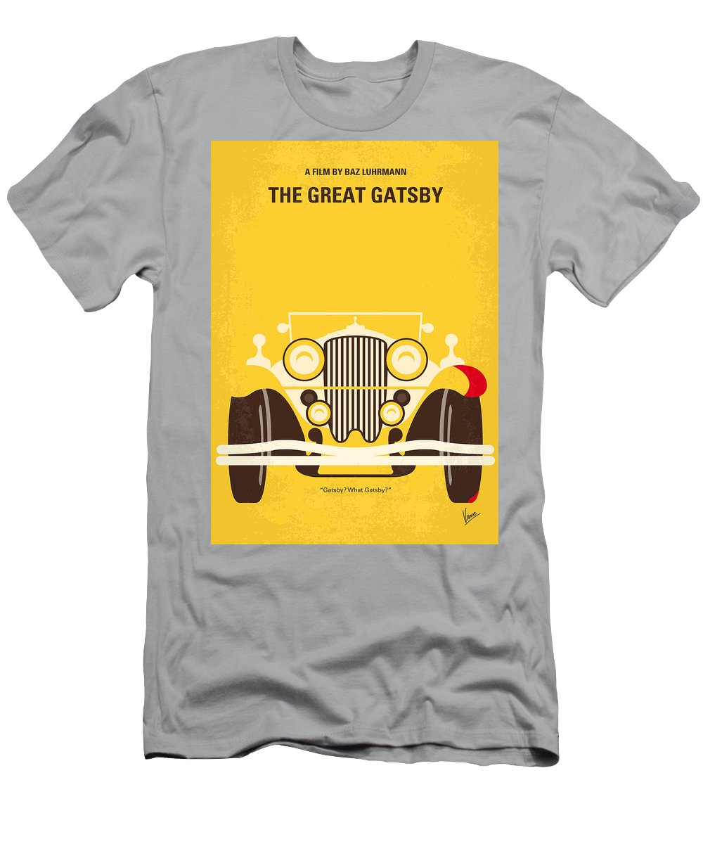 The T-Shirt featuring the digital art No206 My The Great Gatsby minimal movie poster by Chungkong Art