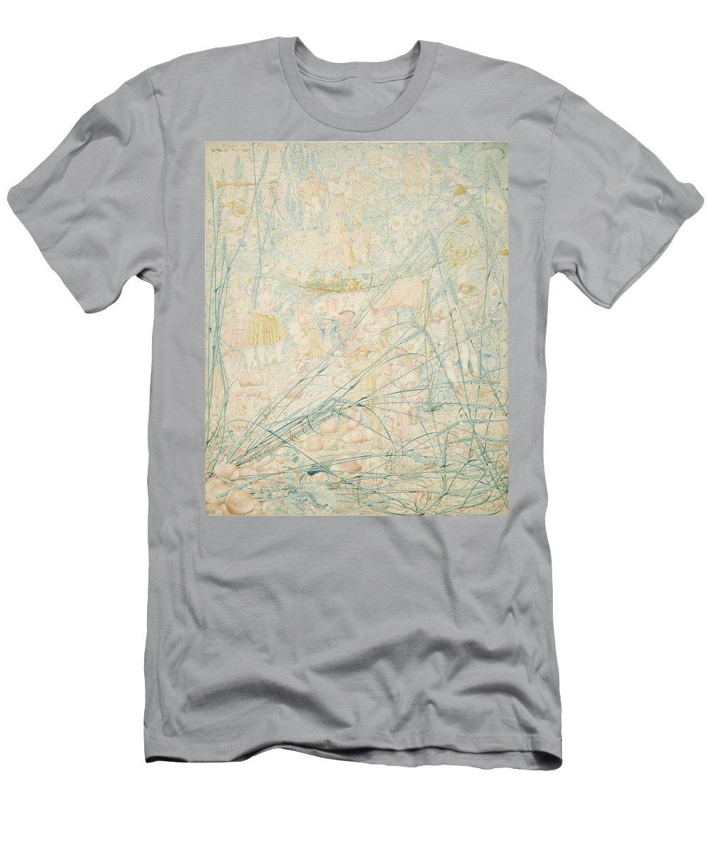 Fantasy Men's T-Shirt (Athletic Fit) featuring the painting No.3713 Songe De La Fantasie, 1864 by Richard Dadd