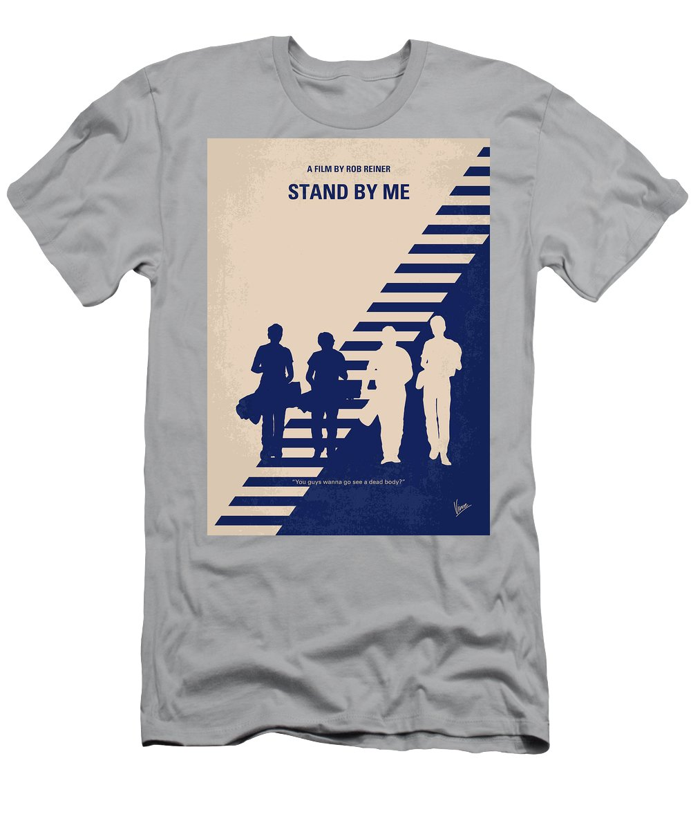 Stand Men's T-Shirt (Athletic Fit) featuring the digital art No429 My Stand By Me Minimal Movie Poster by Chungkong Art