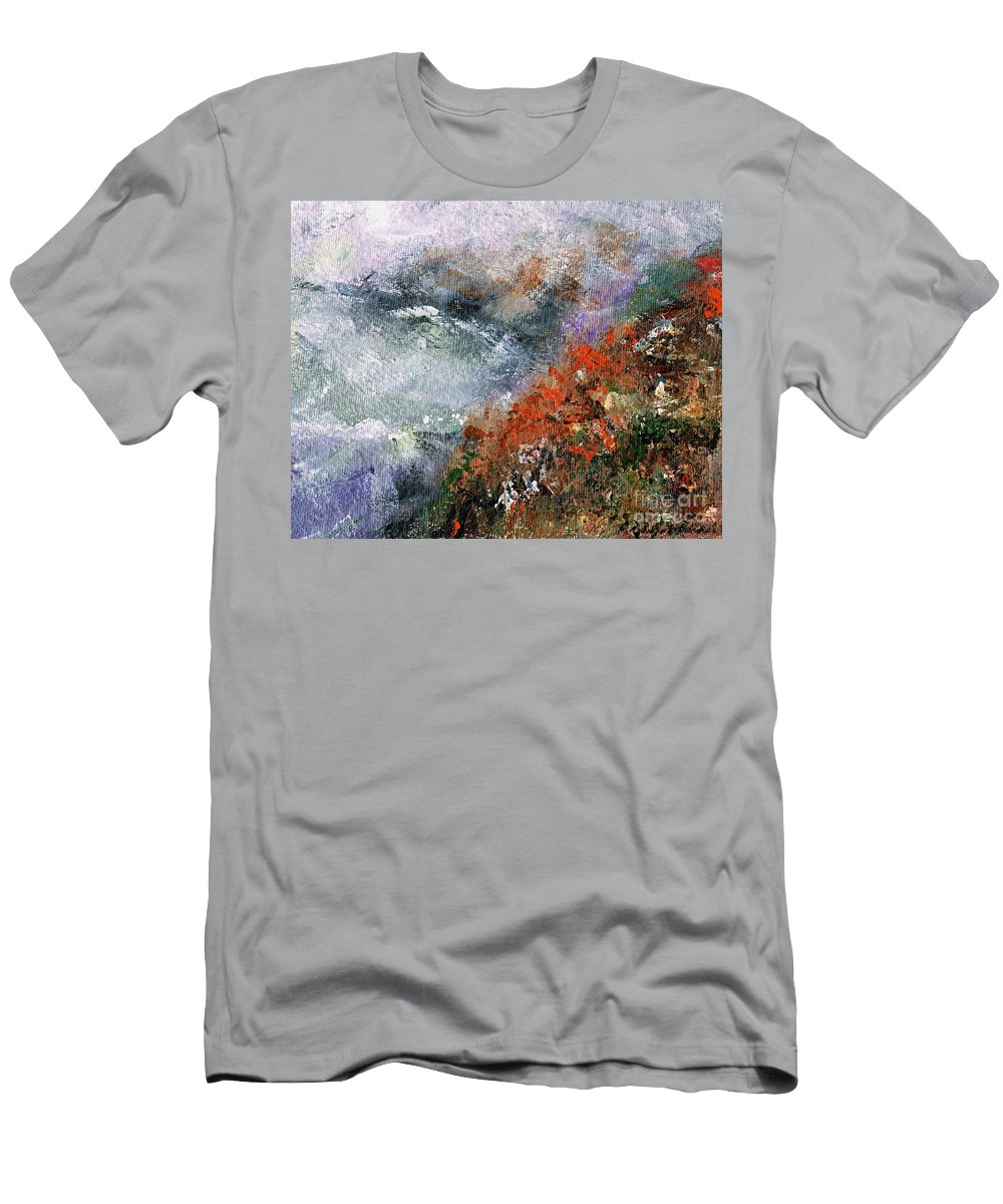 Abstract Landscapes Men's T-Shirt (Athletic Fit) featuring the painting North Of Bodega Bay by Frances Marino
