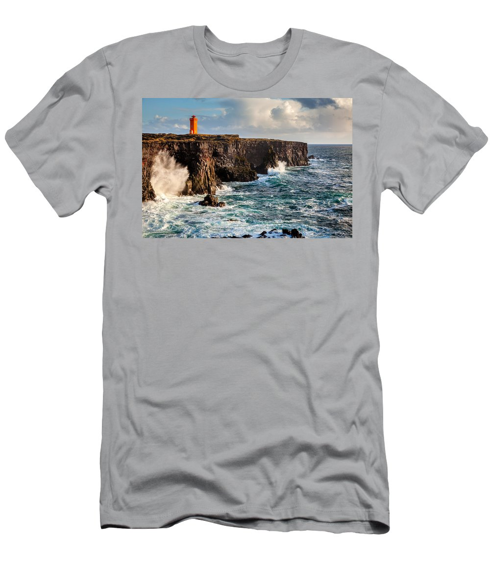 Europe Men's T-Shirt (Athletic Fit) featuring the photograph Northern Atlantic by Alexey Stiop