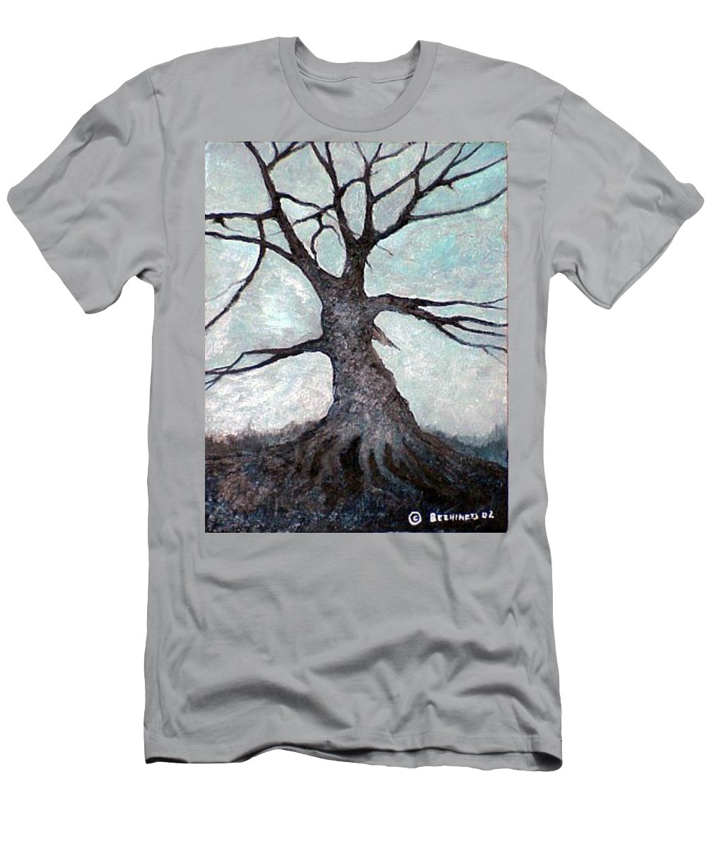 Landscape Men's T-Shirt (Athletic Fit) featuring the painting Old Tree by Sergey Bezhinets