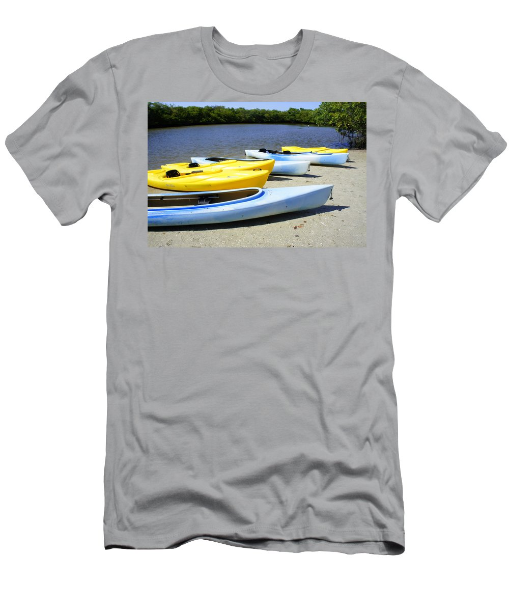 Fort Desota State Park Men's T-Shirt (Athletic Fit) featuring the photograph On The Banks by Laurie Perry