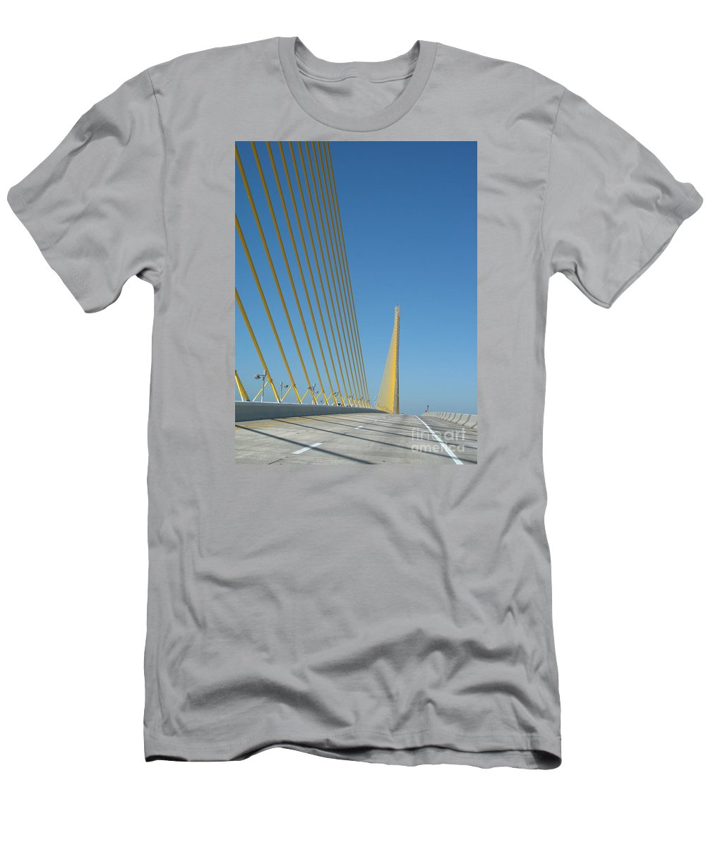 Bridge Men's T-Shirt (Athletic Fit) featuring the photograph On The Sky Way Brigde by Christiane Schulze Art And Photography