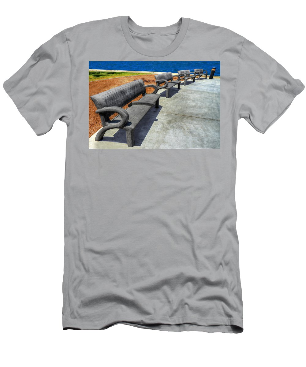 On The Waterfront Men's T-Shirt (Athletic Fit) featuring the photograph On The Waterfront by Paul Wear