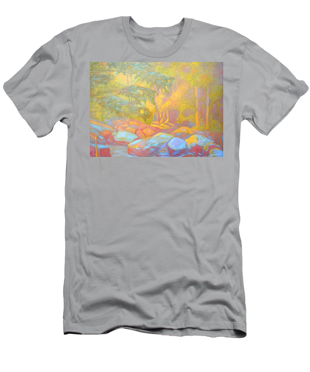 Kendall Kessler Men's T-Shirt (Athletic Fit) featuring the painting On The Way To The Cascades by Kendall Kessler