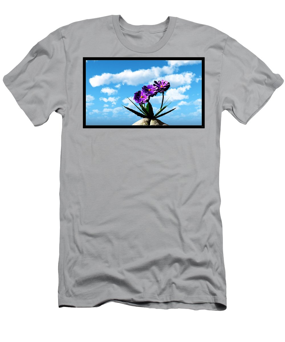 Still Life Men's T-Shirt (Athletic Fit) featuring the digital art On Top Of The World... by Tim Fillingim