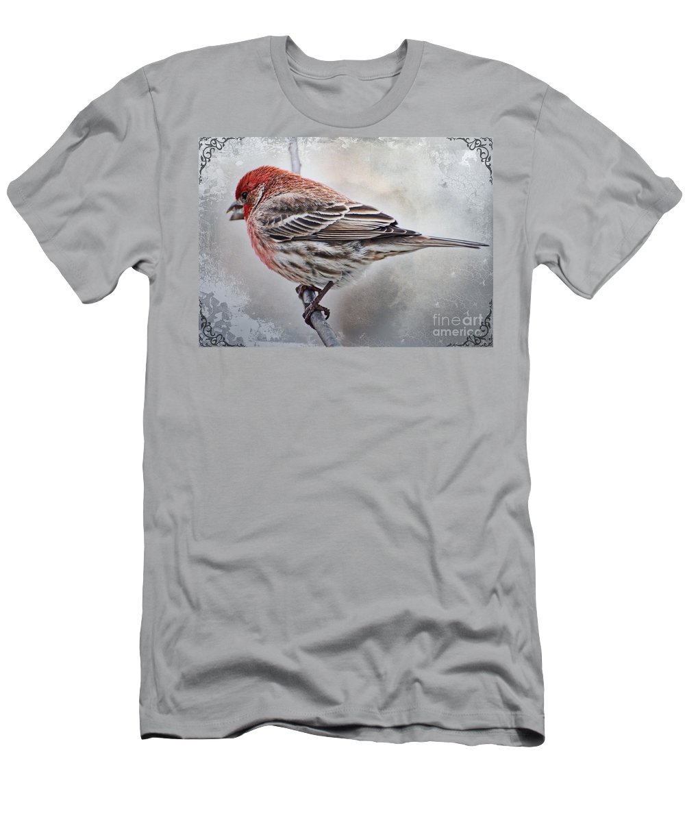 Nature Men's T-Shirt (Athletic Fit) featuring the photograph Once Upon A Winters Day Blank Greeting Card by Debbie Portwood