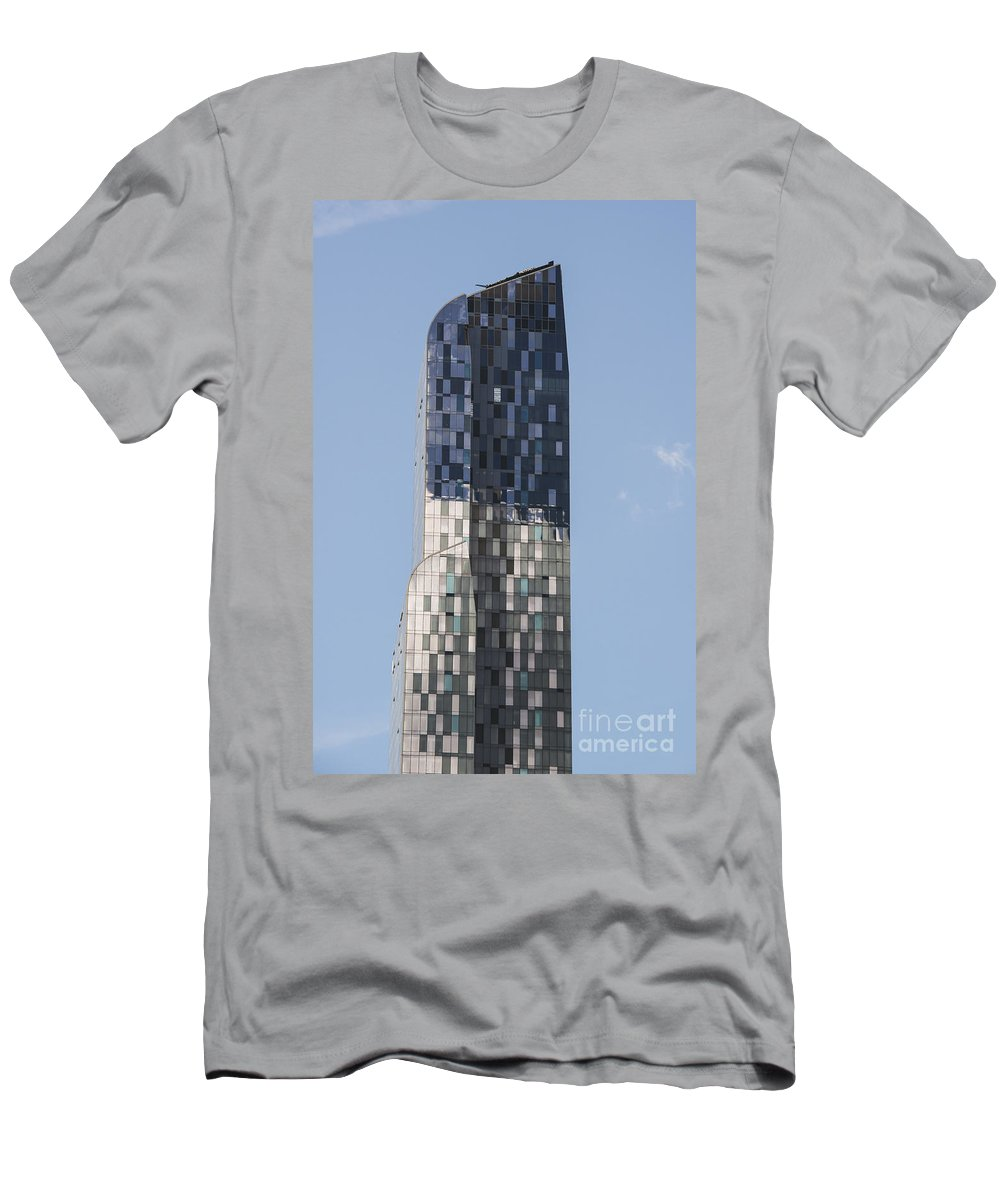 New York City Cityscape Cityscapes Building Buildings Architecture Cities Structure Structures Skyscraper Skyscrapers Window Windows Men's T-Shirt (Athletic Fit) featuring the photograph One57 157th Street by Bob Phillips