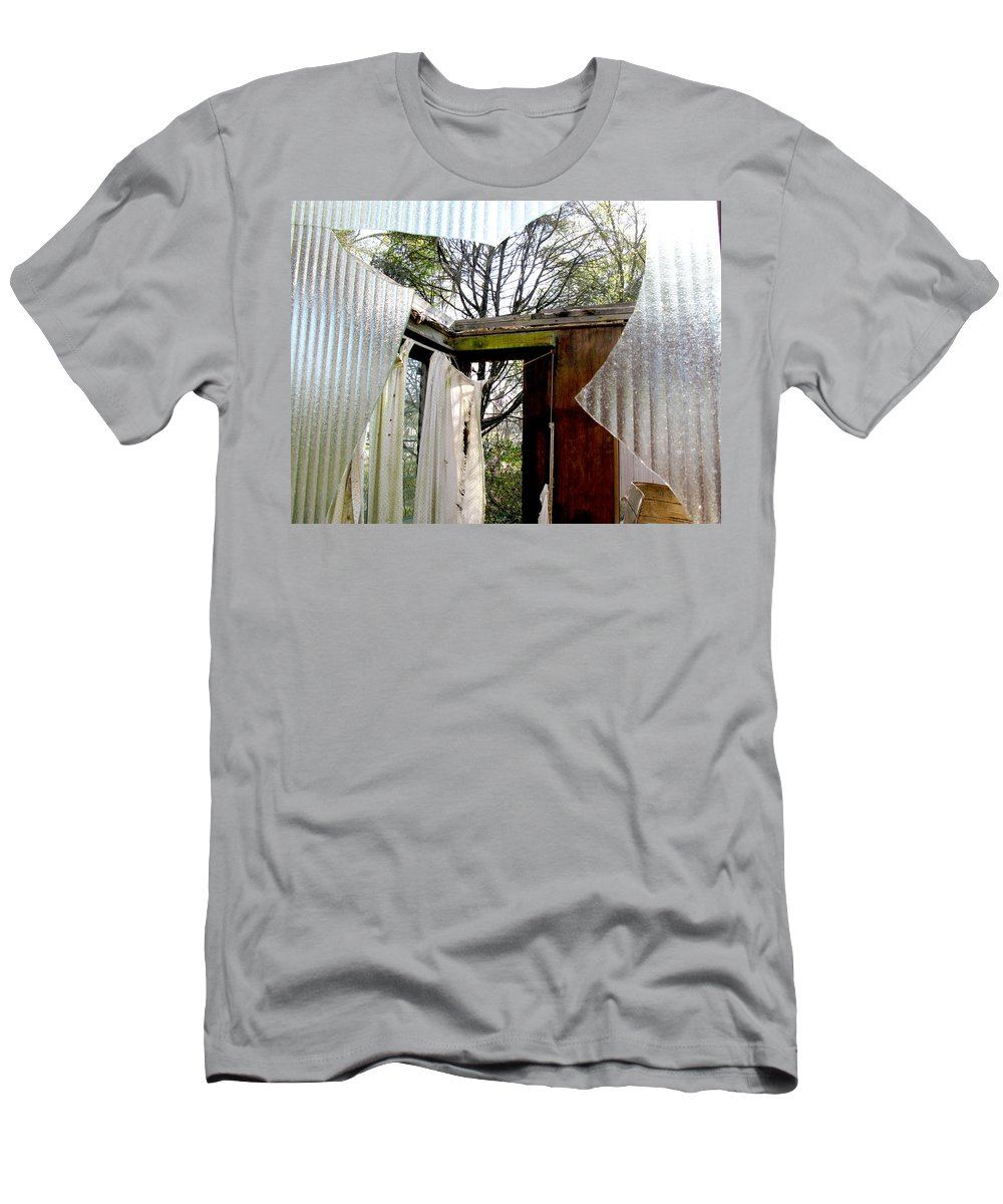 Abandoned House Men's T-Shirt (Athletic Fit) featuring the photograph Open House by Randi Kuhne