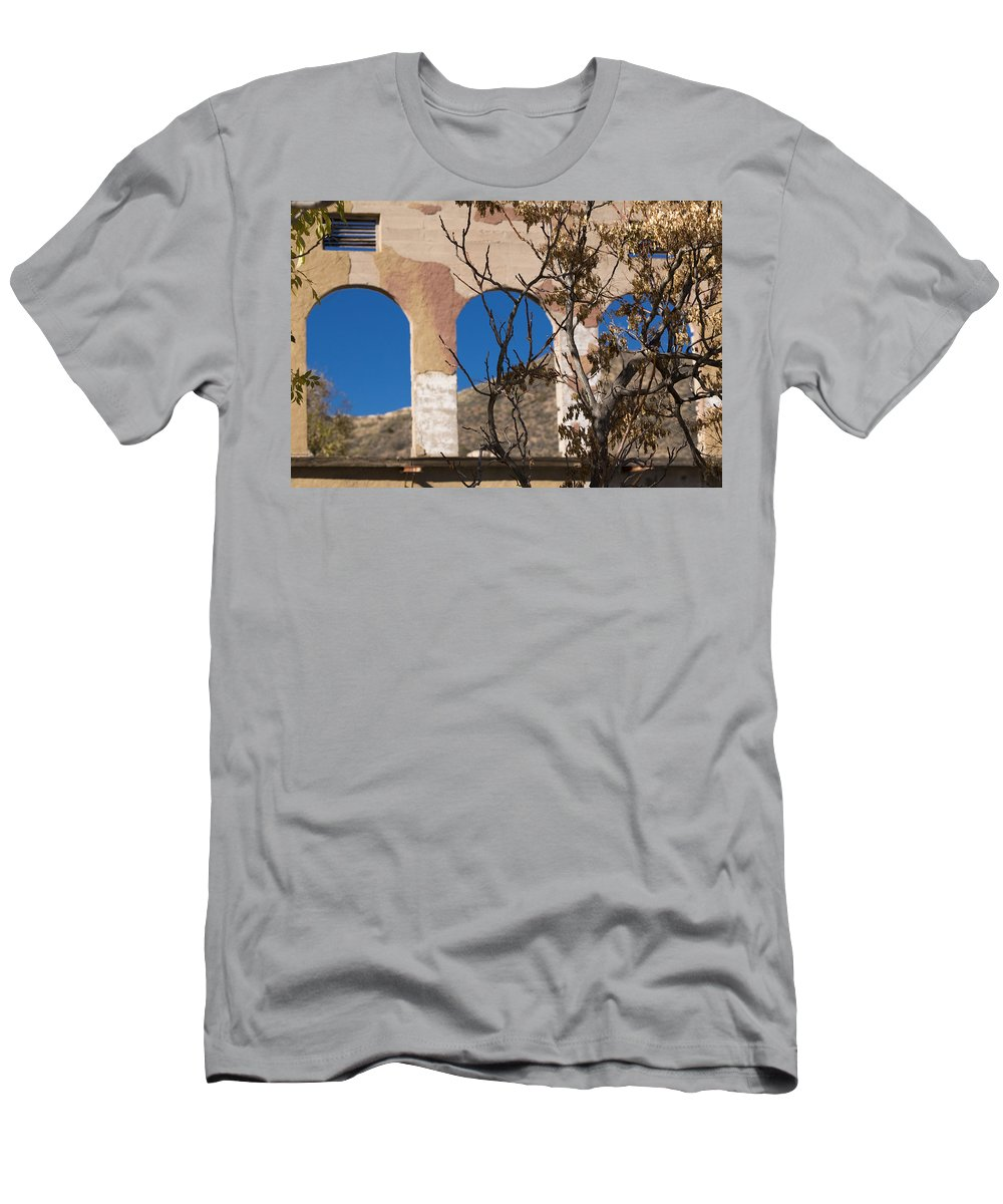 Abandoned Men's T-Shirt (Athletic Fit) featuring the photograph Open Windows Jerome by Scott Campbell