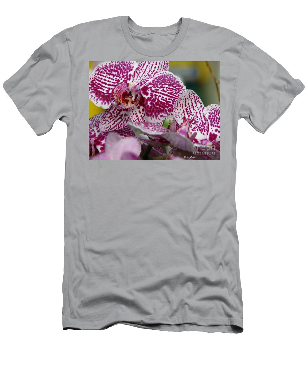 Patzer Men's T-Shirt (Athletic Fit) featuring the photograph Orchid Art by Greg Patzer