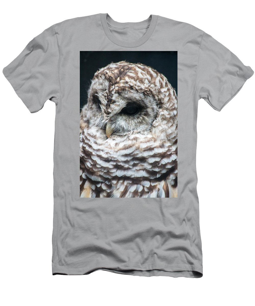 Beak Men's T-Shirt (Athletic Fit) featuring the photograph Owl by Gaurav Singh