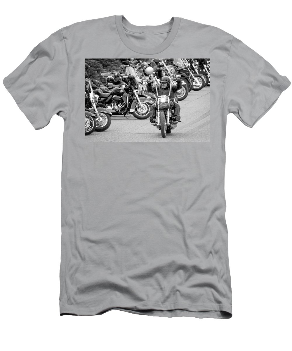 Motorcycle Men's T-Shirt (Athletic Fit) featuring the photograph Oyster Run by Bob Stevens
