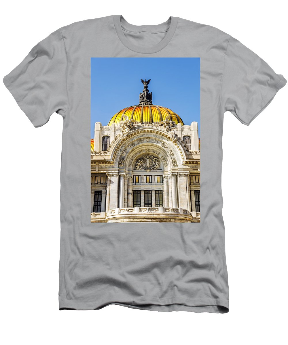Mexico Men's T-Shirt (Athletic Fit) featuring the photograph Palacio De Bellas Artes by Jess Kraft
