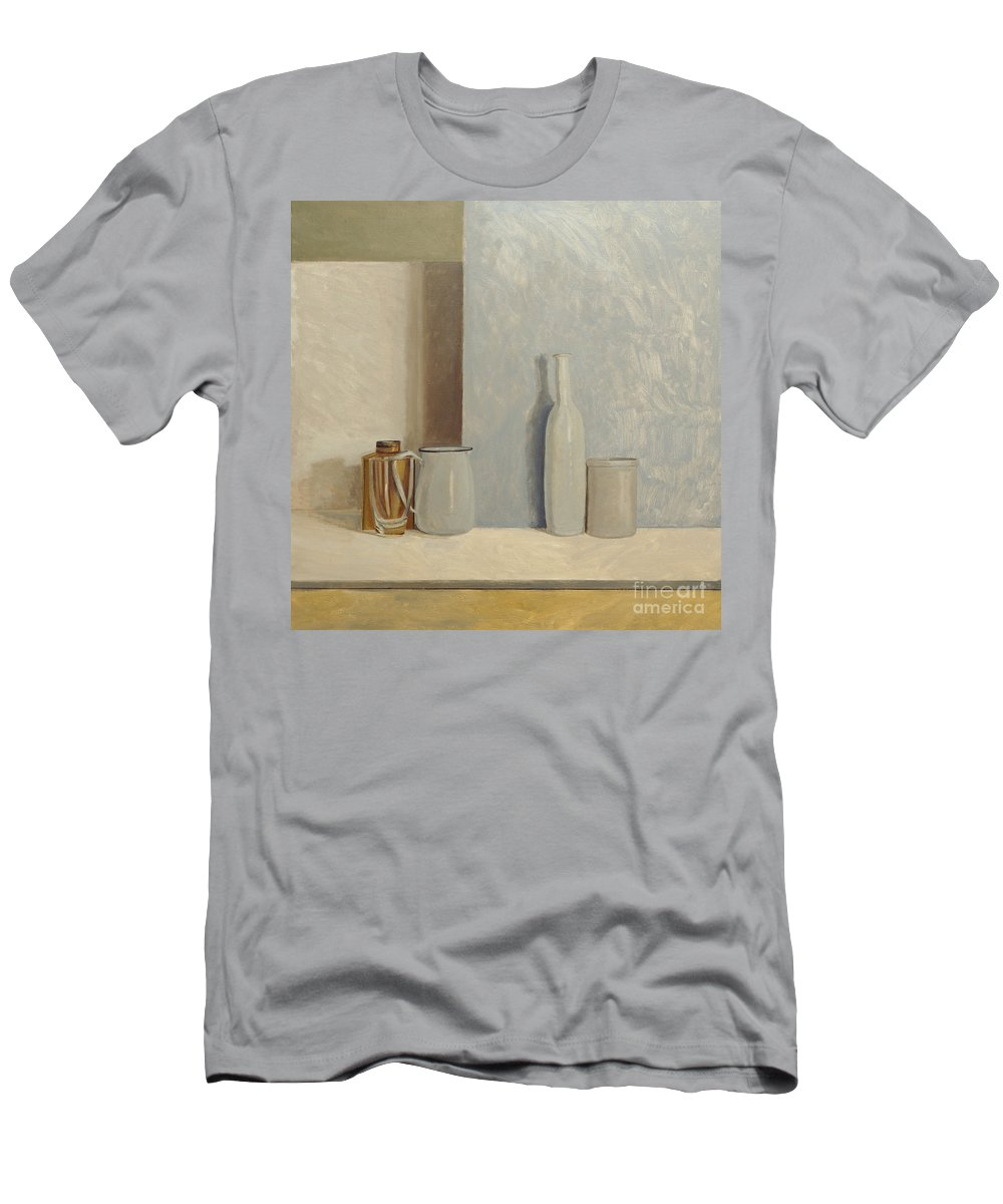 Still Life Men's T-Shirt (Athletic Fit) featuring the painting Pale Grey And Blue by William Packer