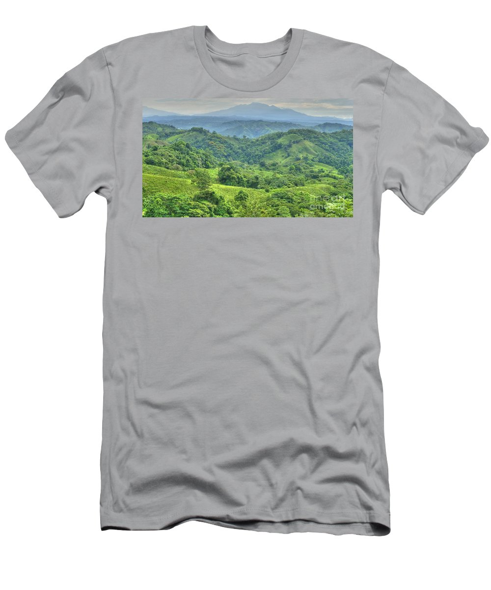 Hdr Men's T-Shirt (Athletic Fit) featuring the photograph Panama Landscape by Heiko Koehrer-Wagner