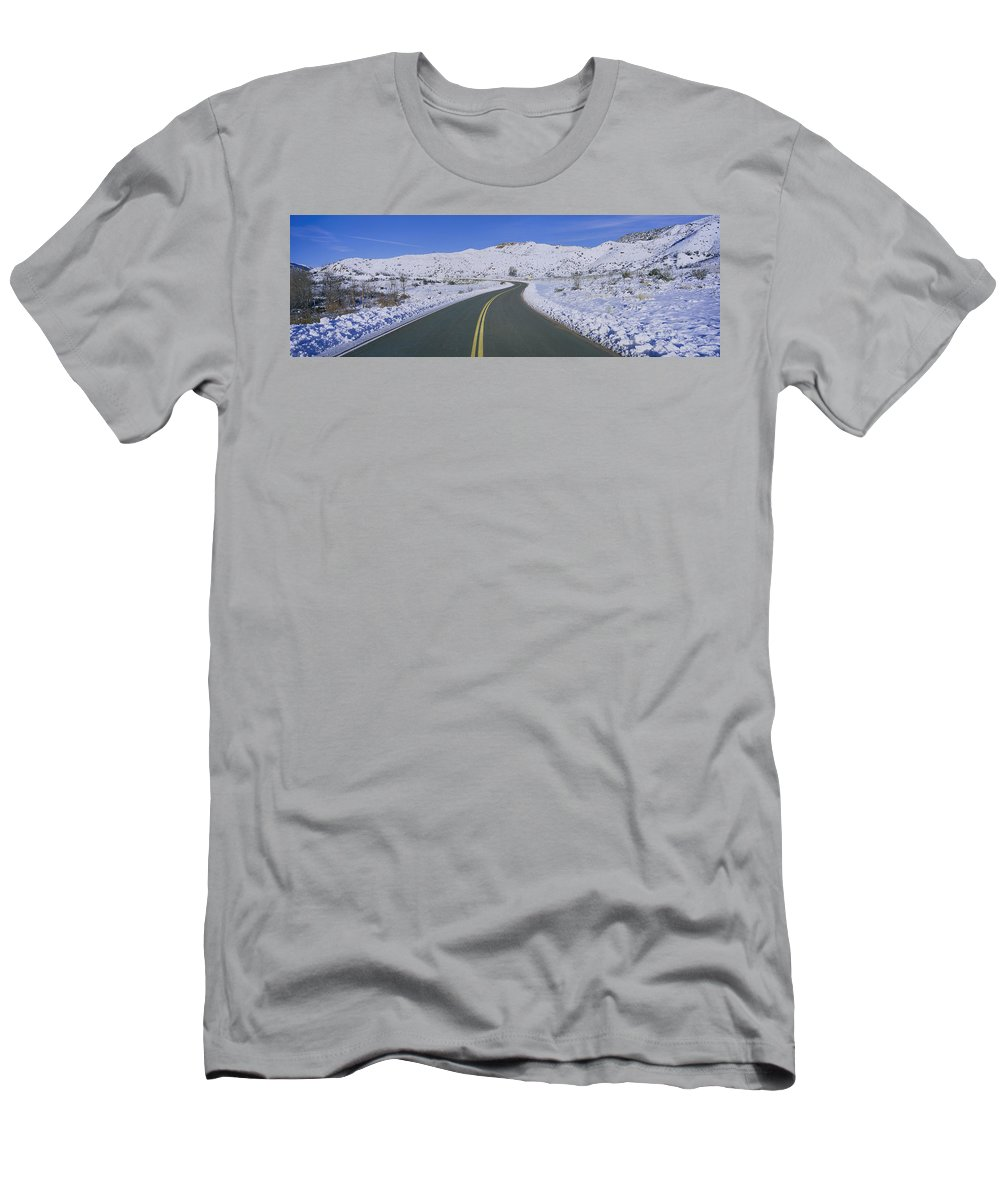 Photography Men's T-Shirt (Athletic Fit) featuring the photograph Panoramic View Of Winter Snow by Panoramic Images