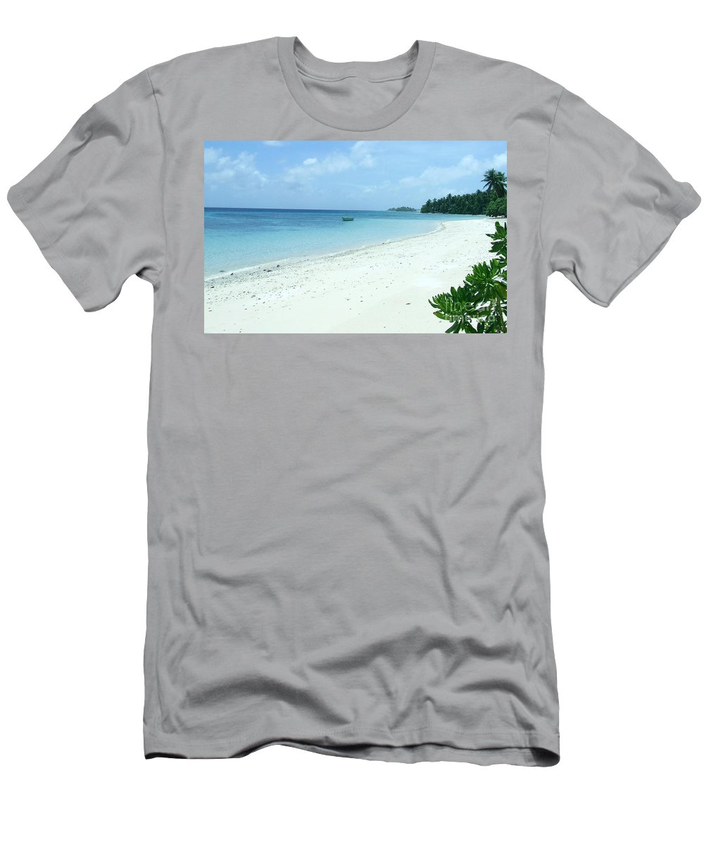 Sea Men's T-Shirt (Athletic Fit) featuring the photograph Paradise Is Here by Andrea Anderegg