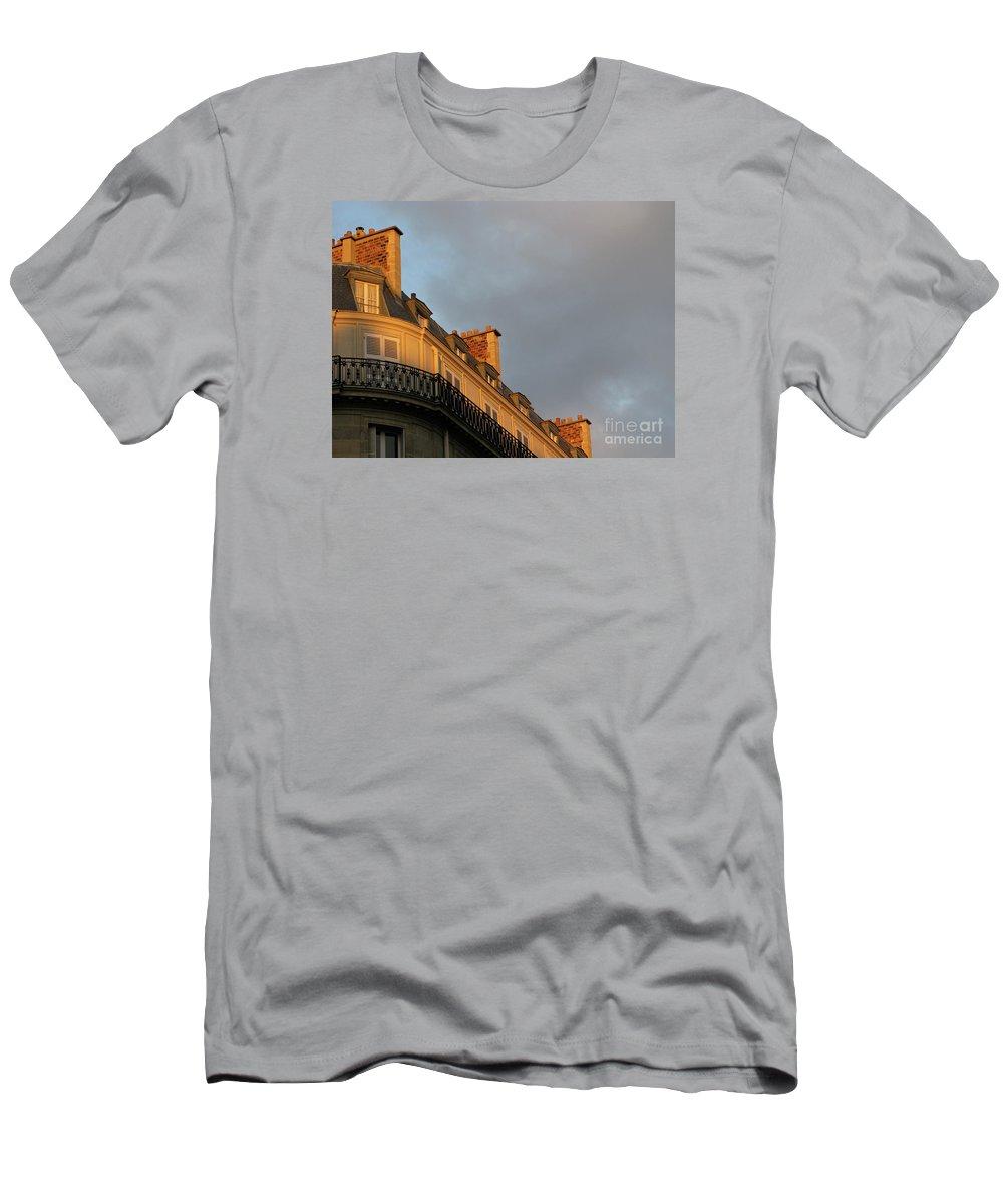 Paris T-Shirt featuring the photograph Paris at Sunset by Ann Horn