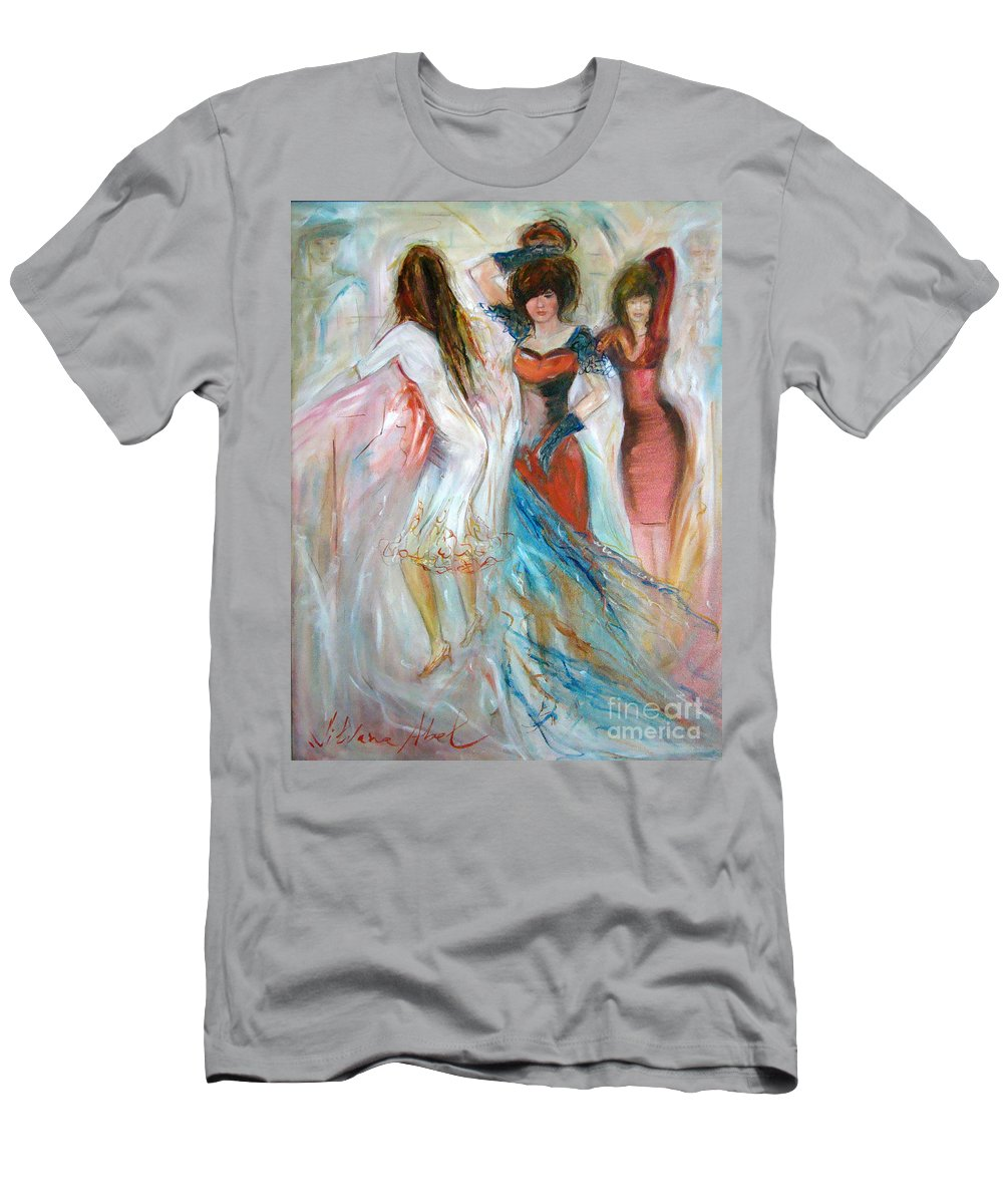 Contemporary Art Men's T-Shirt (Athletic Fit) featuring the painting Party Time by Silvana Abel