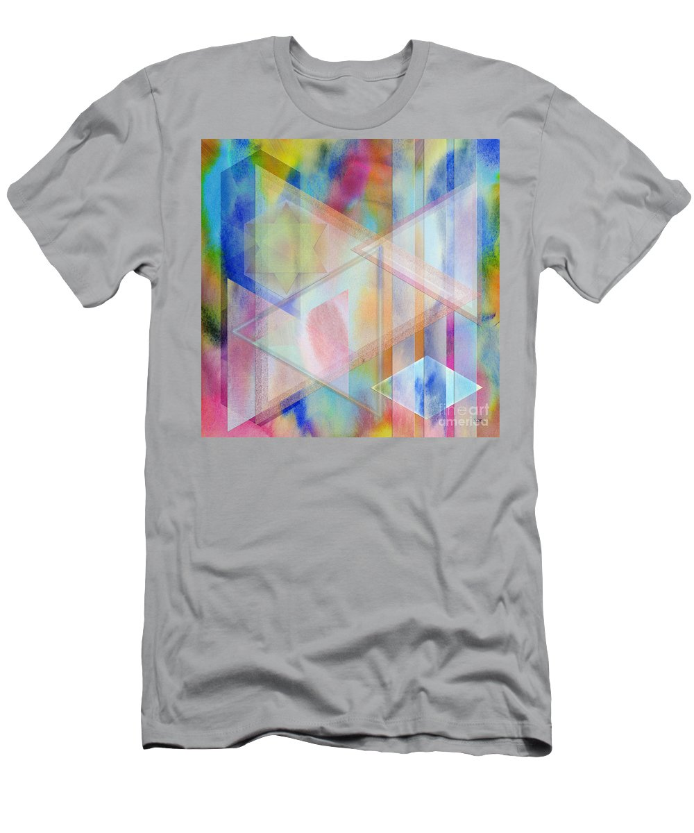 Pastoral Moment T-Shirt featuring the digital art Pastoral Moment - Square Version by John Robert Beck