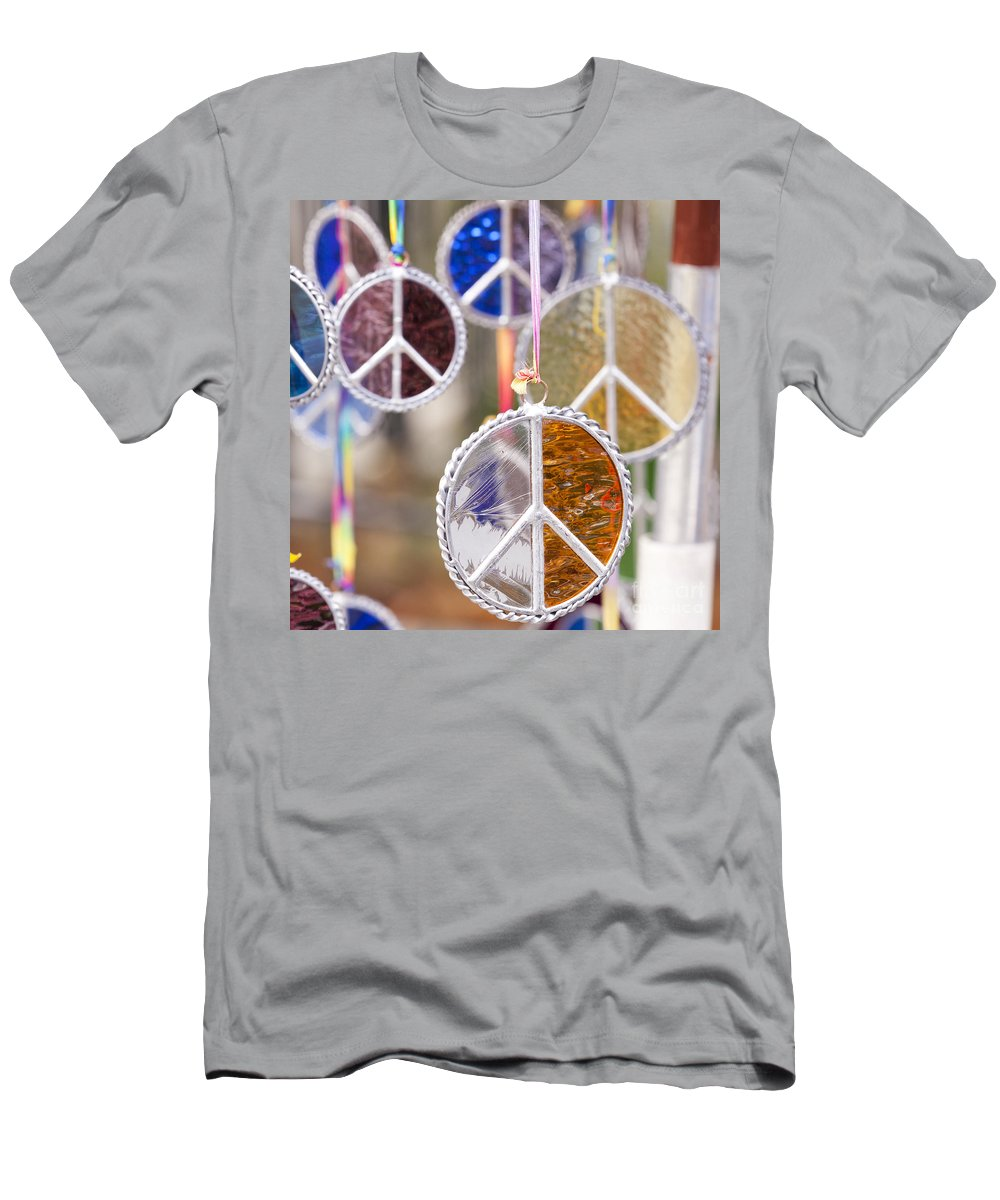 Peace Medal Men's T-Shirt (Athletic Fit) featuring the photograph Peace Medals by B Christopher
