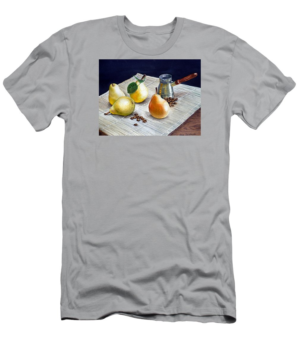 Pears Men's T-Shirt (Athletic Fit) featuring the painting Pears by Irina Sztukowski