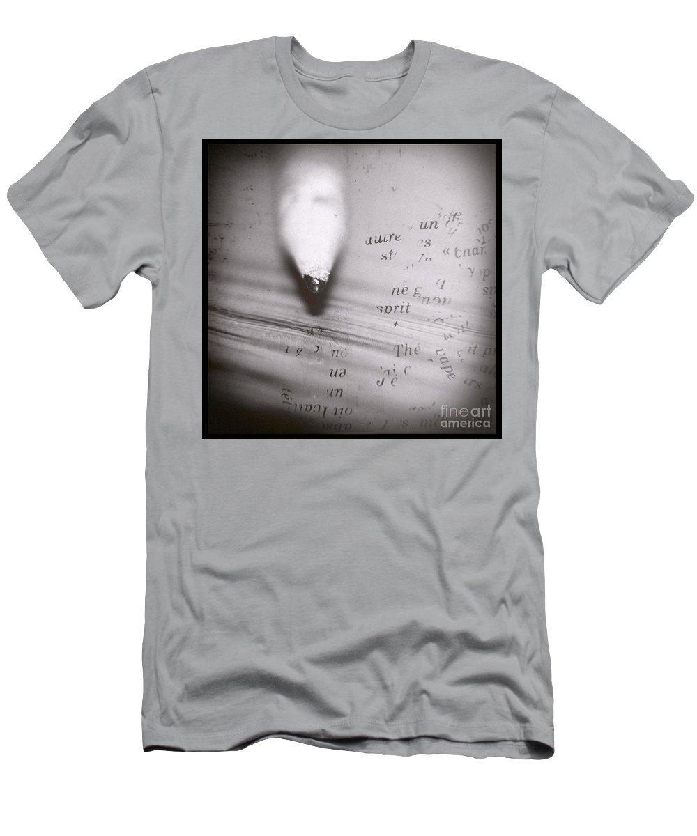 Pencil Men's T-Shirt (Athletic Fit) featuring the photograph Pencil Dilemma by Trish Mistric