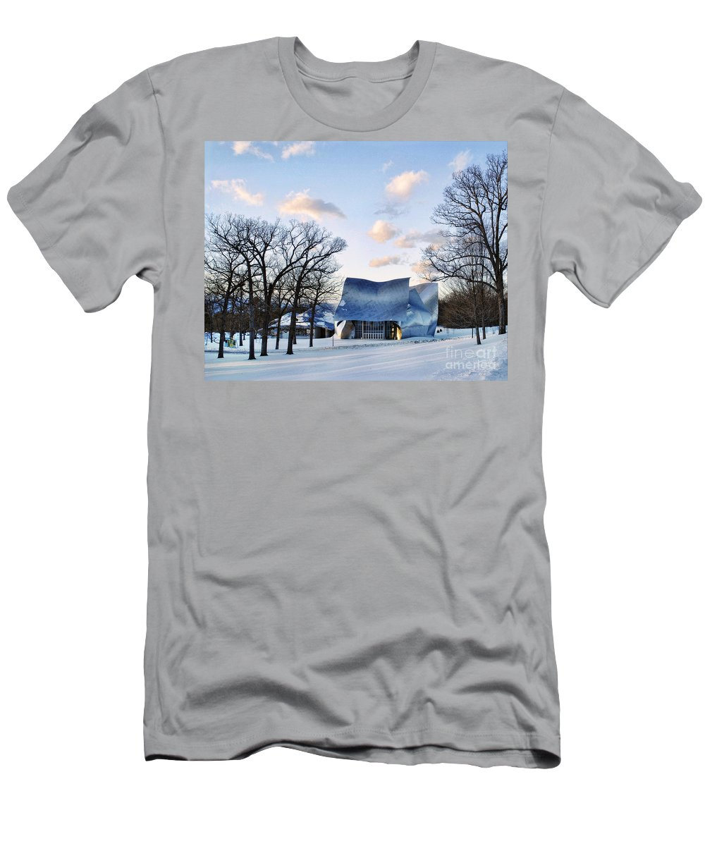 Bard College Men's T-Shirt (Athletic Fit) featuring the photograph Performing Arts Center by Claudia Kuhn