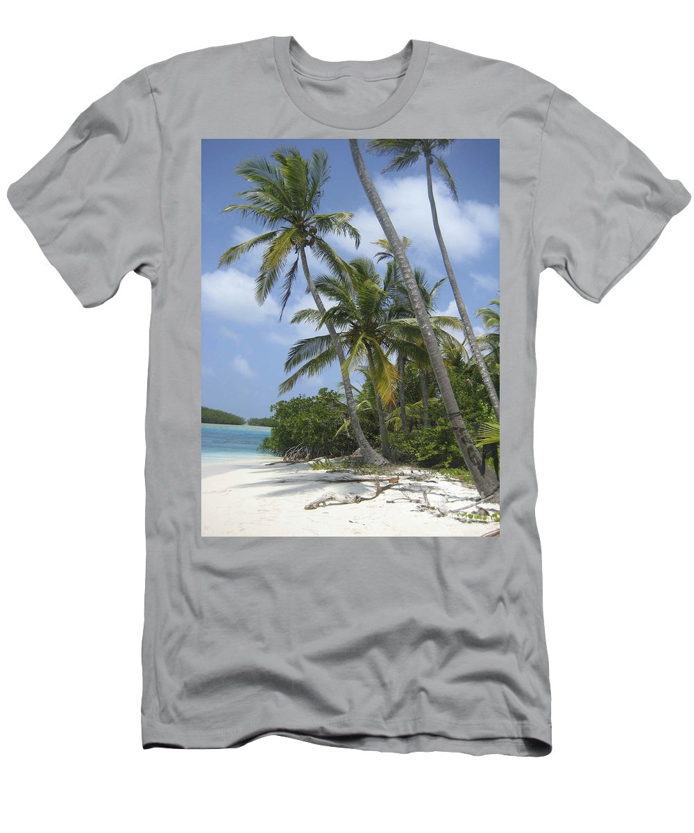 Paradise Men's T-Shirt (Athletic Fit) featuring the photograph Picture Perfect Paradise by Christina Gupfinger
