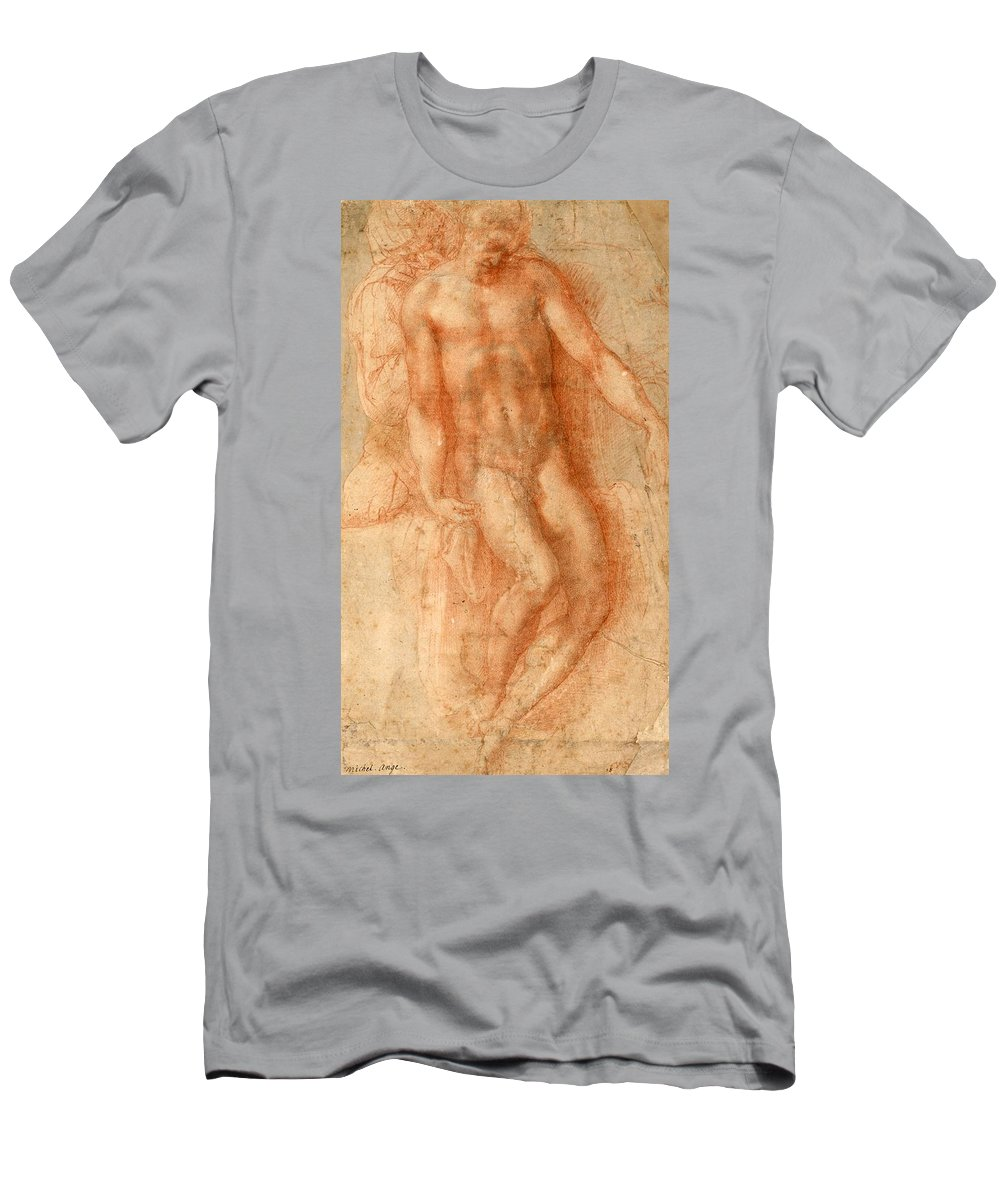 1530-1536 Men's T-Shirt (Athletic Fit) featuring the painting Pieta by Michelangelo Buonarroti